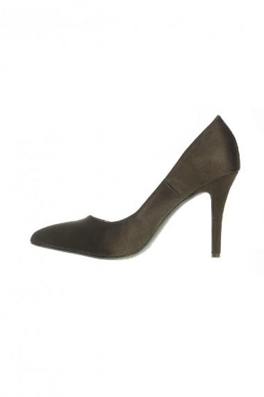 Pantofi Rammi  de piele ecologica intoarsa cu aspect catifelat