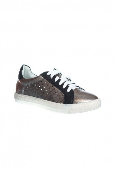 pantofi Rammi bronz cu design perforat