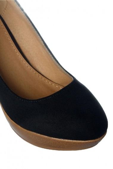 Pantofi Rammi usori cu toc maro