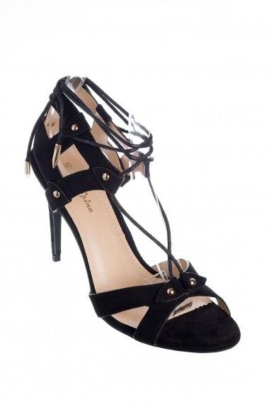Sandale Rammi negre cu sireturi