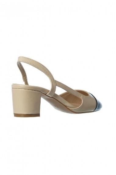 pantofi Rammi slingback bej