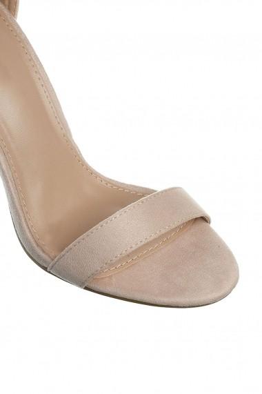 sandale Rammi de piele intoarsa ecologica cu bareta pe glezna