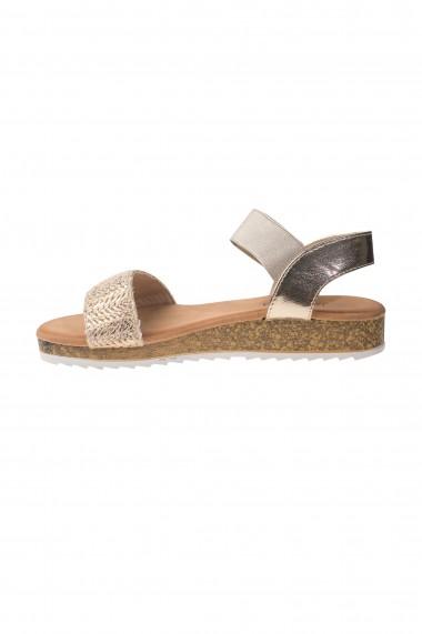 Sandale plate aurii