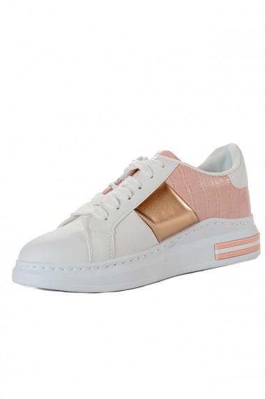 Pantofi sport cu insertii auriu rose