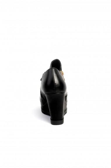 Botine Rammi negre cu fermoar auriu design