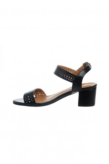 Sandale Rammi din piele ecologica cu detalii perforate