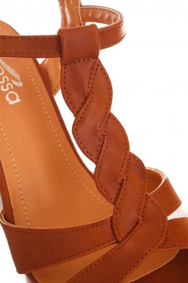 Sandale Rammi RMM-df3577camel maro