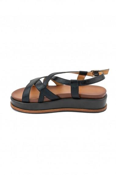 sandale Rammi negre cu aspect stralucitor
