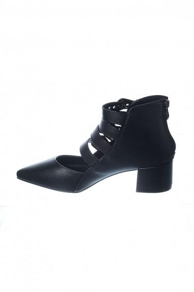 Pantofi Rammi negri din piele ecologica premium cu barete