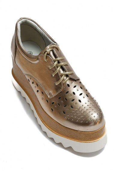Pantofi cu platforma Rammi RMM-KL252 Auriu