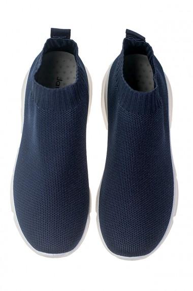 Pantofi sport slip-on cu aspect tricotat