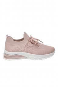 Pantofi roz pudra cu talpa pernoasa