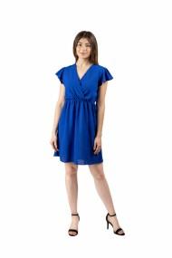 Rochie scurta albastra cu maneci lejere