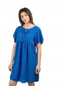 Rochie scurta albastra cu imprimeuri de stele