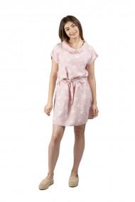 Rochie roz din in cu margarete
