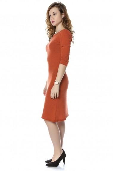 Rochie midi Crisstalus RO211-CRISSTALUS portocalie