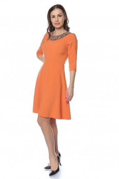 Rochie de seara Crisstalus RO221 portocalie