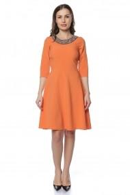 Rochie scurta Crisstalus RO221 portocalie