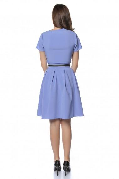 Rochie scurta Crisstalus RO238 bleu