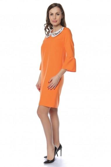 Rochie de zi Crisstalus RO240 portocaliu