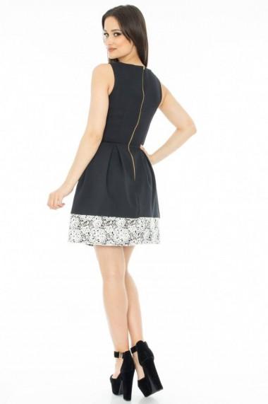 Rochie Roh Boutique de ocazie, cu dantela - DR1887 negru
