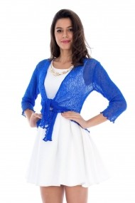 Bolero Roh Boutique handmade - BR866 albastru