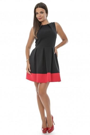 Rochie scurta Roh Boutique in contrast - CLD228 Neagra
