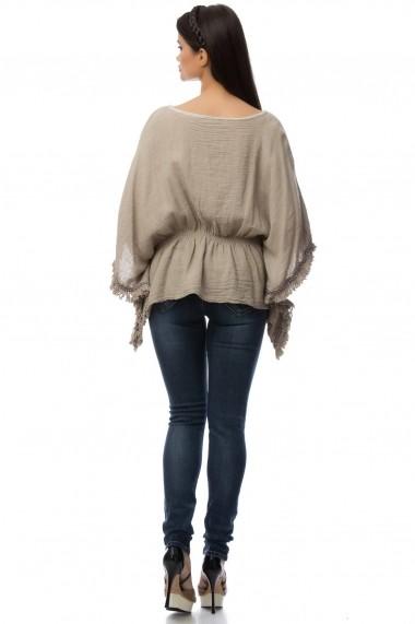 Bluza Roh Boutique khaki gen poncho - BR1413 kaki One Size