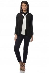 Camasa Roh Boutique neagra accesorizata cu cravata alba - BR1397 neagra One Size