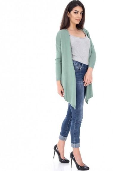 Cardigan Roh Boutique verde cu colturi - BR1408 verde One Size