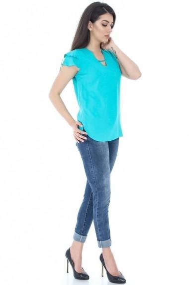 Bluza Roh Boutique verde cu maneca scurta - BR1422 verde
