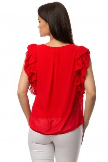 Bluza Roh Boutique rosie cu volane - BR1431 rosu
