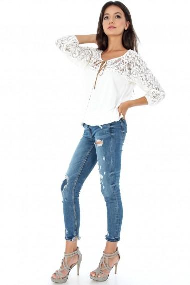 Bluza Roh Boutique BR1445 Crem