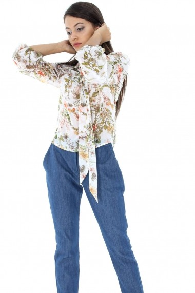 Pantaloni largi Roh Boutique clasici din denim - TR196 negru