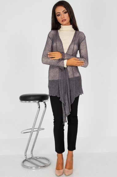Cardigan Roh Boutique BR1490 gri One Size