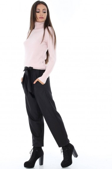 Pantaloni largi Roh Boutique simpli - TR205 negru