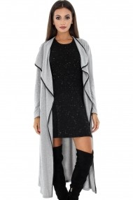 Cardigan Roh Boutique lung - JR340 gri