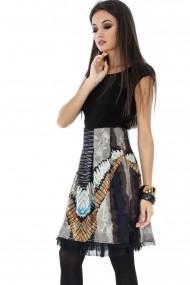 Rochie de zi Roh Boutique cu maneci scurte - DR3146 multicolora