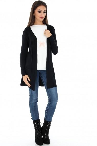 Cardigan Roh Boutique negru - BR1551 negru
