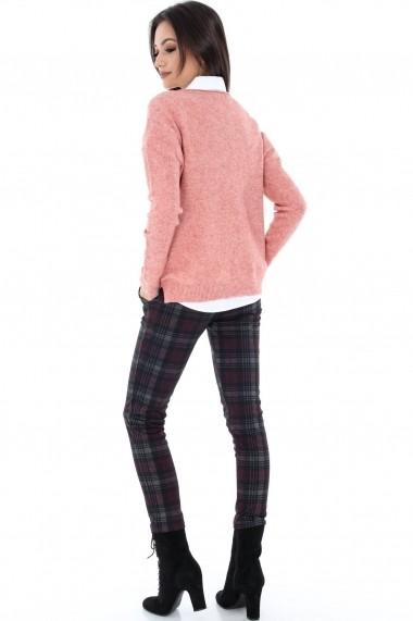Pulover Roh Boutique cu imprimeu stea - B1582 piersica One Size