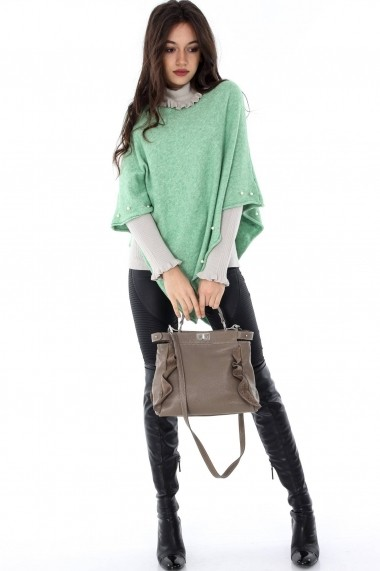 Poncho Roh Boutique ROH-6633 -JR373 verde|menta One Size
