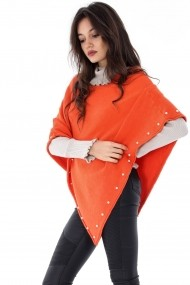 Poncho Roh Boutique ROH-6634 - JR374 portocaliu One Size