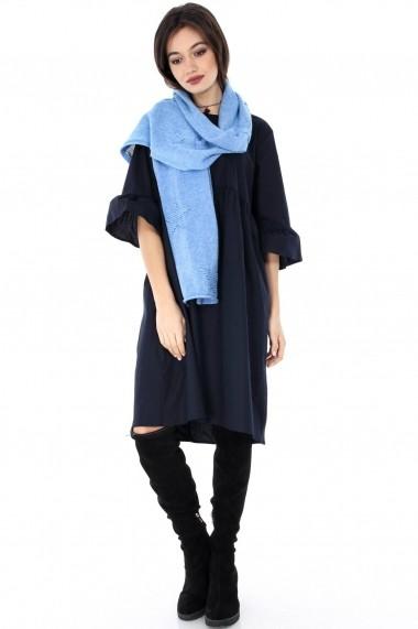 Esarfa Roh Boutique albastra, ROH, imprimeu stea-A0257 albastru One Size
