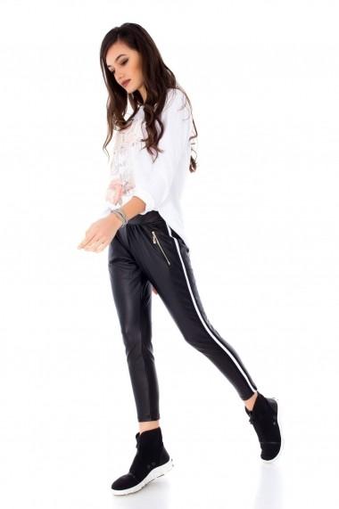 Pantaloni largi Roh Boutique ROH-6718 - TR223 negru