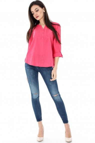 Bluza Roh Boutique casual, coral, ROH, din bumbac - BR1741 coral