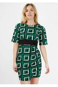 Rochie de zi Roh Boutique cu imprimeu geometric - CLD1020 multicolora