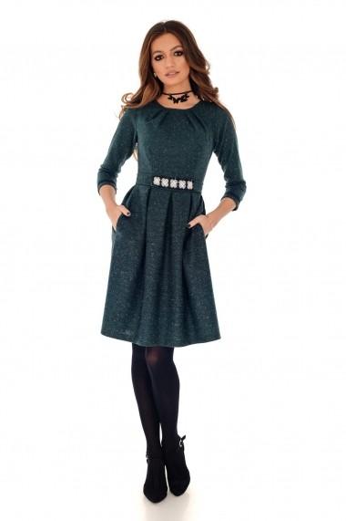 Rochie midi Roh Boutique cu cordon in talie - DR3692 albastra