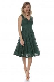 Rochie de seara Roh Boutique midi din dantela, ROH, verde - DR3697 verde