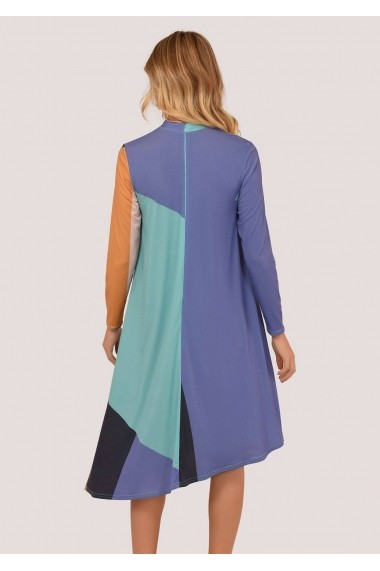 Rochie scurta Closet London asimetrica - DR3706 multicolora