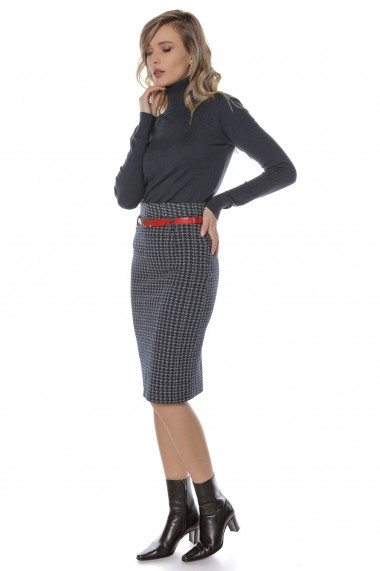 Fusta dreapta Roh Boutique bleumarin, ROH, stil creion - FR419 bleumarin